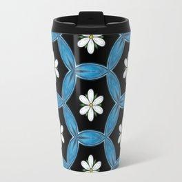 hippie flower pattern Travel Mug