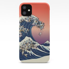 The Great Wave Of  French Bulldog iPhone Case