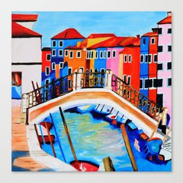 Colors of Venice Italy Canvas Print