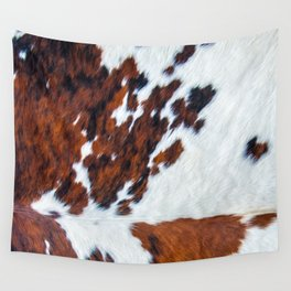 Rustic cow faux fur, cowhide Wall Tapestry