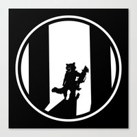 rocket raccoon Canvas Prints featuring Rocket Raccoon by Comix