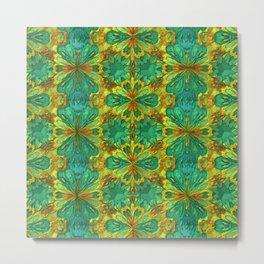 Organic Life Pattern Metal Print