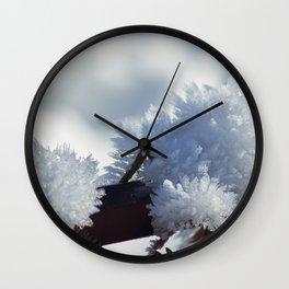 Ice Crystals Wall Clock