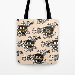 Cute Coffee Addict Tote Bag