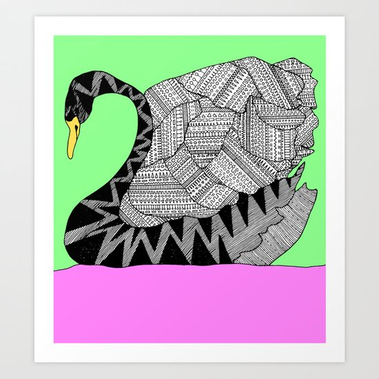 Another Swan Art Print