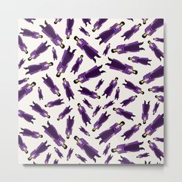 Purple Pattern 1 Metal Print