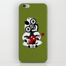 Black and Grey Hei Tiki playing a Ukulele iPhone & iPod Skin