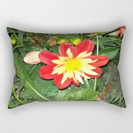 Red and Yellow flower Rectangular Pillow