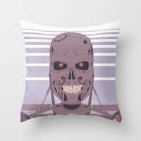 terminator Throw Pillows featuring Terminator  by avoid peril
