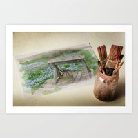 watercolour Art Prints featuring Watercolour by liberthine01