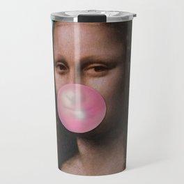 Mona Lisa (Leonardo da Vinci) with Bubblegum Travel Mug