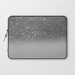 Bullet Gray & Silver Glitter Gradient Laptop Sleeve
