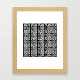 Black White design pattern Framed Art Print