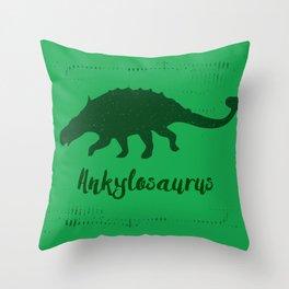 Ankylosaurus Throw Pillow