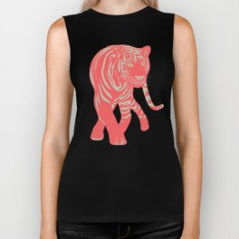 Aloha Tiger, Tiger print, Animal print, jungle print Biker Tank