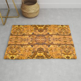 Abstract Kaleidoscope Mineral Crystal Texture Rug