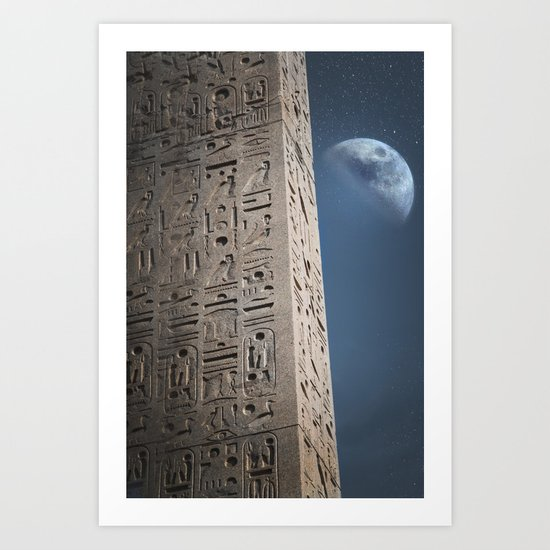 Egyptian Moon Art Print