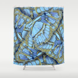 Blue Wings Shower Curtain