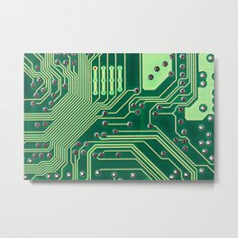 Funny Nerdy Computer Motherboard Metal Print