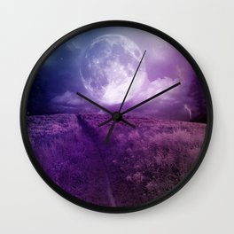 Fields Of Moonlight  Wall Clock