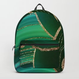Emerald Marble Glamour Landscape Backpack
