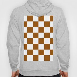Large Checkered - White and Brown Hoody