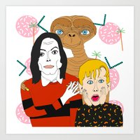 home alone Art Prints featuring Home alone? by Elena Éper