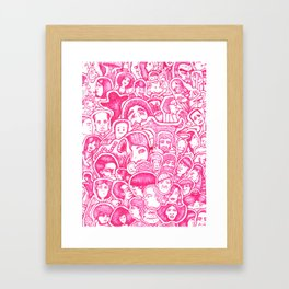 Pinky Collage Framed Art Print