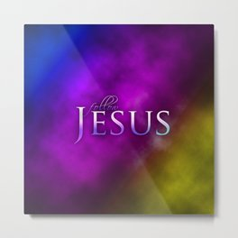 Follow Jesus (purple) - Bible Lock Screens Metal Print