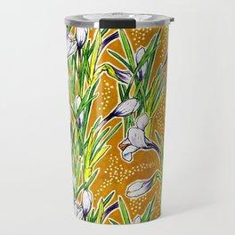 Crocuses, Marygold Yellow an Green Travel Mug