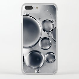 Silver Macro Photography Water Droplets Clear iPhone Case