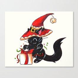 Santa Sorcery Canvas Print