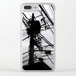 Tokyo wires Clear iPhone Case
