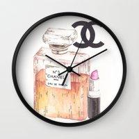perfume Wall Clocks featuring Perfume by AshleyRose