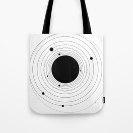 The Solar System (with Pluto) Tote Bag