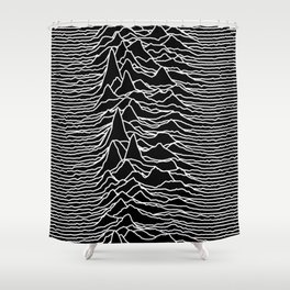 Joy Division - Unknown Pleasures Shower Curtain