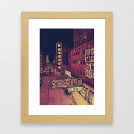 Mong Kok Nights Framed Art Print