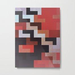 888 Geometric // L Fit Metal Print