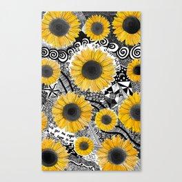 girasol, tournesol, sunflower Canvas Print