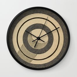 Vintage Saturn From Above Wall Clock