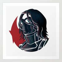 bucky Art Prints featuring Bucky by Charleighkat