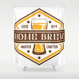 D20 Home Brew Content Creator Beer Label Shower Curtain