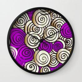 Violet Spiral Wall Clock