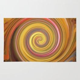 Swirls of digital paint Rug
