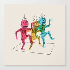 Skeletons Dancing Canvas Print