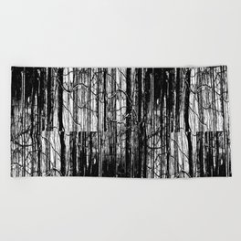 Forest Winter Pattern Beach Towel