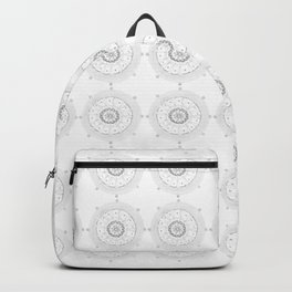 Medallions in Soft Gray Backpack
