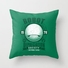 Robot Depreciation Society Throw Pillow