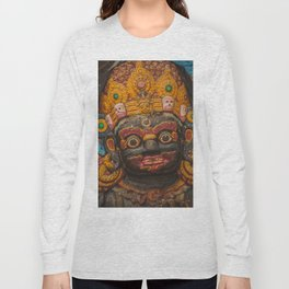 Temples and Architecture of Kathmandu City, Nepal 002 Long Sleeve T-shirt