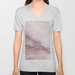 Pastel pink burgundy elegant abstract marble pattern Unisex V-Neck